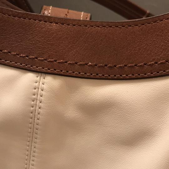 Coach Satchel in White and Brown Image 9