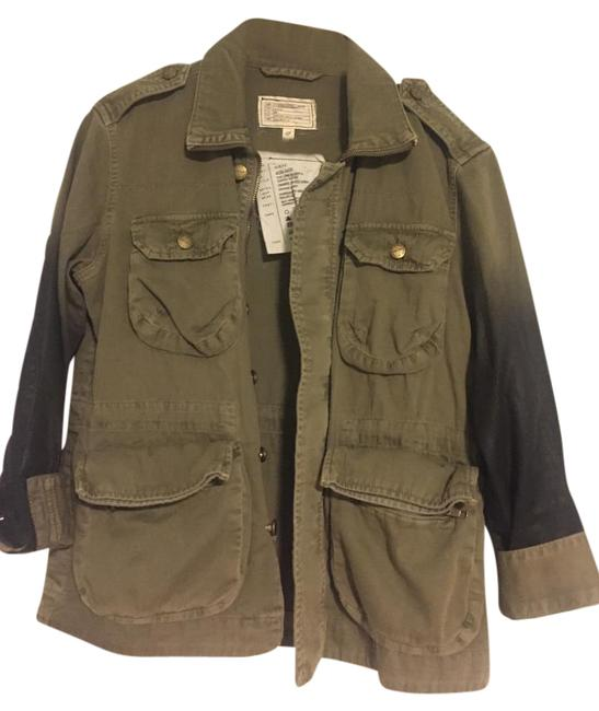 Item - Green/Black Ombre Army Jacket Size 0 (XS)