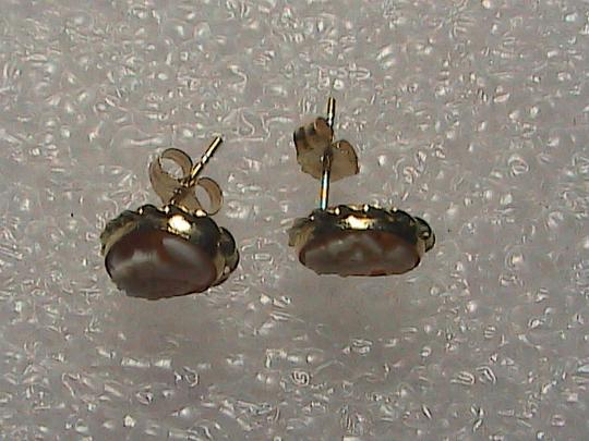 Other 14k Yellow Gold Cameo Stud earrings Image 5