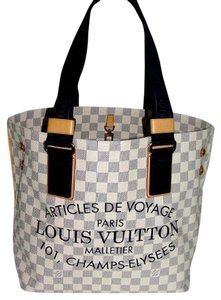 b014bff858 Louis Vuitton Shoulder Cabas Neverfull Tote in Damier Azur