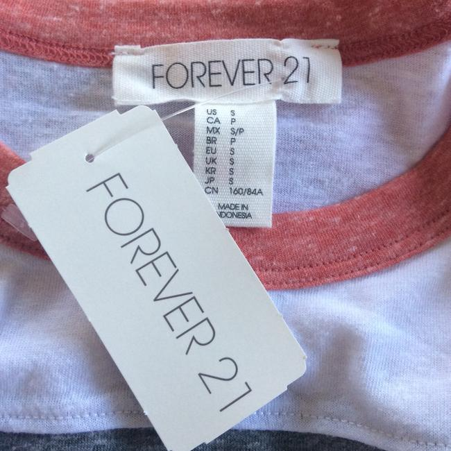Forever 21 Top White, grey, coral