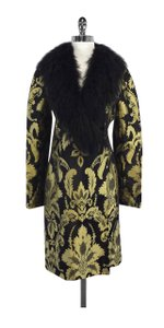 Valentino Black Gold Faux Coat
