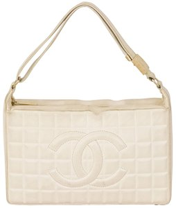 Chanel Lambskin Quilted Chocolate Bar Shoulder Bag