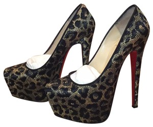 Christian Louboutin Black/Gold Platforms