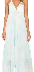 White, aqua Maxi Dress by Alice + Olivia