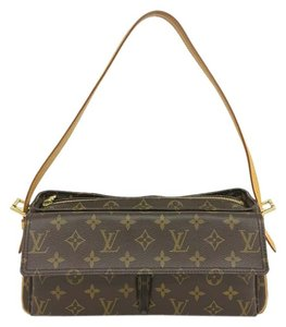 Louis Vuitton Lv Monochrome Viva Cite Mm Canvas Shoulder Bag