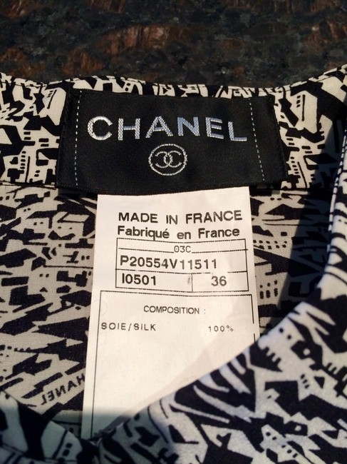 Chanel Top Black And Withe Image 2