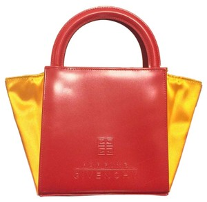 Givenchy Givenchy Bright Red Parfums Triangle Convertible Mini Tote