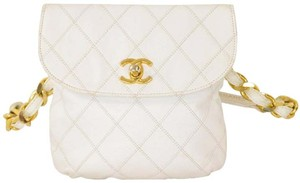 Chanel Lambskin Quilted Single Flap Cross Body Bag