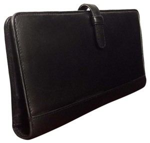 Coach Vintage Coach Black Leather Passport Id Organizer Bifold
