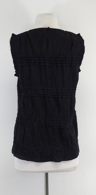 Theory Tiered Silk Top Black