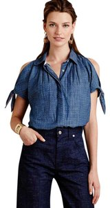 Anthropologie Anthropolgie Holding Horses Button Down Shirt Chambray, Blue