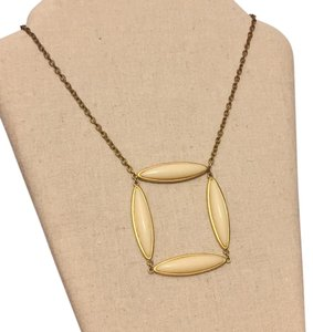 David Aubrey David Aubrey Gold Tone Ivory Geometric Necklace