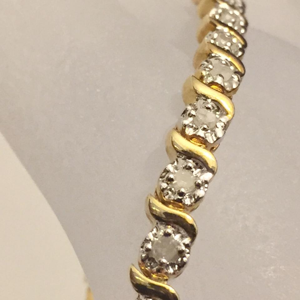 Kay Jewelers Gold Genuine 3 Carat Diamond 925 Vermeil Tennis Bracelet