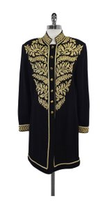 St. John Black Gold Embellished Jacket