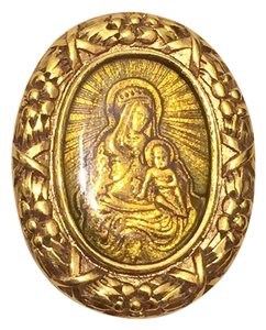 The Vatican Library Collection The Vatican Library Collection Gold Tone Brooch Collectible Religious
