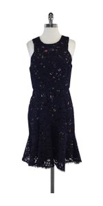 Shoshanna short dress Navy Lace Sleeveless on Tradesy