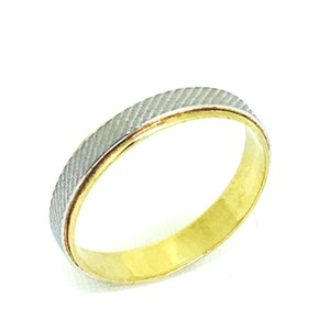 PT900 Platinum/18K Yellow Gold Ring