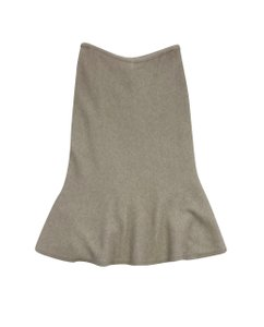 Tory Burch Tan Wool Flare Skirt