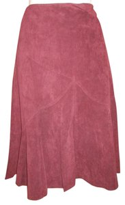 Ideology Leather Suede Skirt burgundy