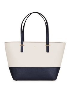 Kate Spade Down The Rabbit Hole Tote in CRISP LINEN OFF SHORE