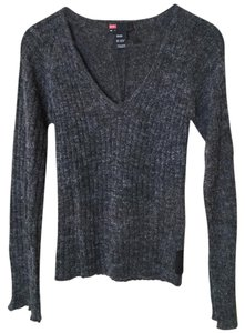 Diesel V-neck Longsleeve Charcoal Sweater