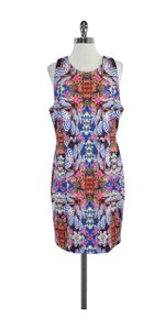 MILLY short dress Multi Color Print Neoprene on Tradesy