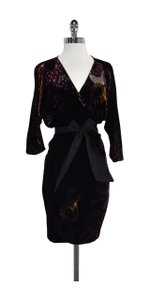 Diane von Furstenberg short dress Black Velvet Wrap Wrap on Tradesy