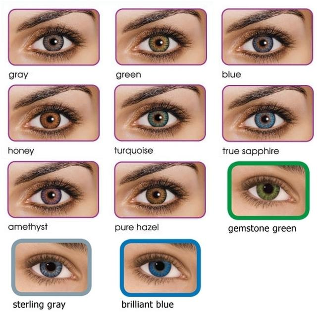 Item - Pure Hazel ~ Grey ~ Sterlying Gray ~ Green ~ Gemstone Green ~ Ture Sapphire ~ Turquiose Colored Contacts