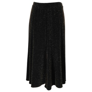 Chico's Travelers Stretch Knit Skirt Hot Fudge