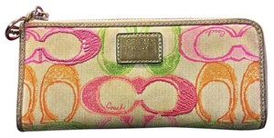 Coach Coach Long Poppy Wallet Watercolors Series