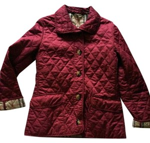 Burberry Burberry London Cranberry red Quilted coat