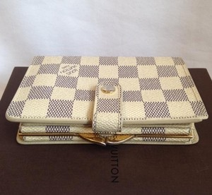 Louis Vuitton Louis Vuitton Damier Azur French kisslock wallet