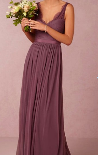 BHLDN Antique Orchid Nylon Tulle Lace; Polyester Lining Fleur #36081925 Formal Bridesmaid/Mob Dress Size 4 (S) Image 1