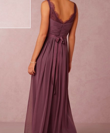 BHLDN Antique Orchid Nylon Tulle Lace; Polyester Lining Fleur #36081925 Formal Bridesmaid/Mob Dress Size 4 (S) Image 3