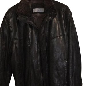 Marc New York Black with brown collar Leather Jacket