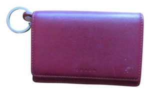 Coach Coach Red Leather wallet
