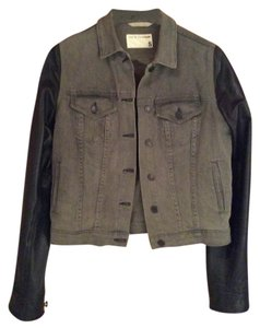 Rag & Bone Grey/Black Womens Jean Jacket