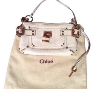 Chloé Wristlet in Bone/White