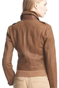 Burberry Brit Burberry Shearling Bomber Leather Fur brown Leather Jacket