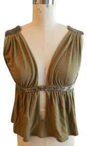 sass & bide Beaded Cut-out Top Sage Green