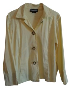 Other Soft Yellow jacket with black & white bottons Jacket