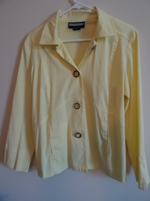 Requirements Soft Yellow jacket with black & white bottons Jacket Image 1