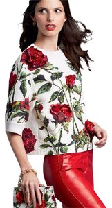Dolce&Gabbana Dolce Rose Embellished Jewel Top Red, white, green, black