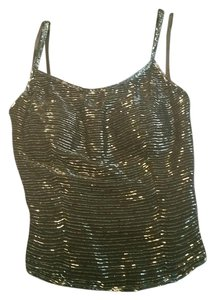 Saks Fifth Avenue Cocktail Sequin Beaded Top Black