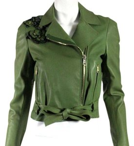 Valentino Green Leather Jacket