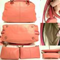Coach Bonnie Cashin Carryall Leather Satchel in Coral Image 1