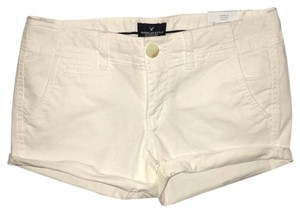 American Eagle Outfitters Cuffed Shorts White
