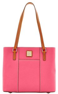Dooney & Bourke & Small Lexington Leather Tote in Hot Pink