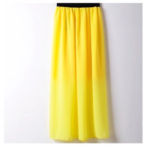 Next Level Dress Maxi Skirt Yellow